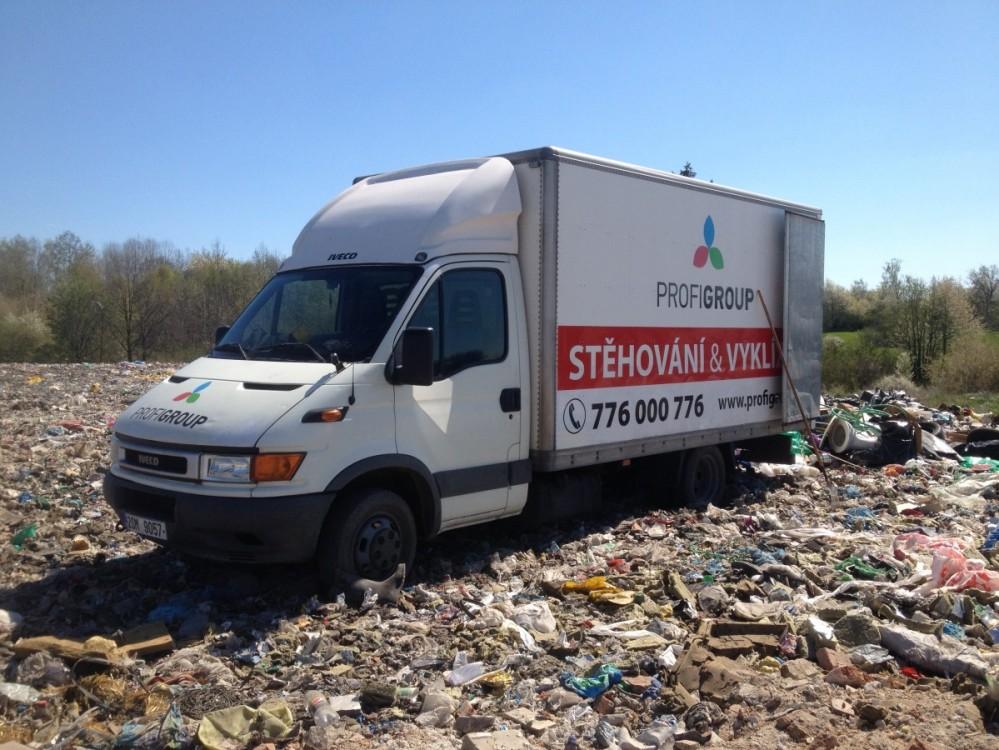 Odvoz odpadu na skládku
