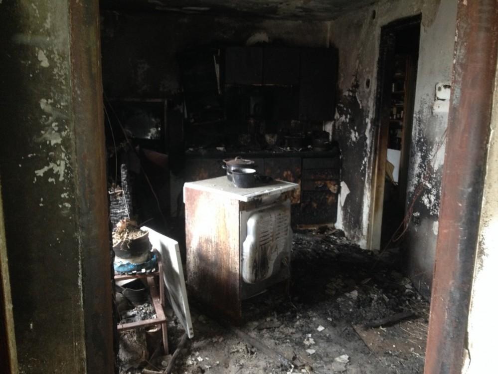 Vyklizení interiéru po vyhoření